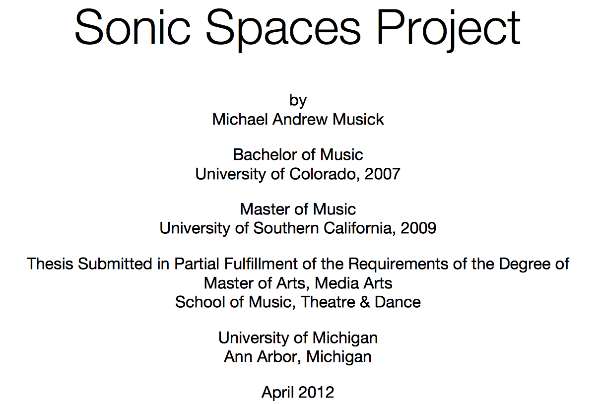 Master of music thesis